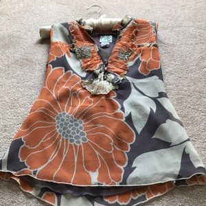 Anthropologie silk top like new